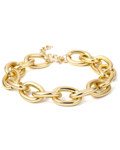 Golden Chain Choker and Bracelet