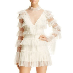 """Flying on the cloud"" Mesh Mini Dress"