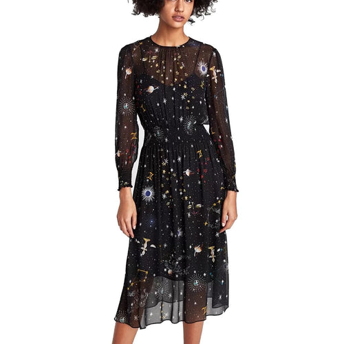 Cosmic Galaxy Print Dress
