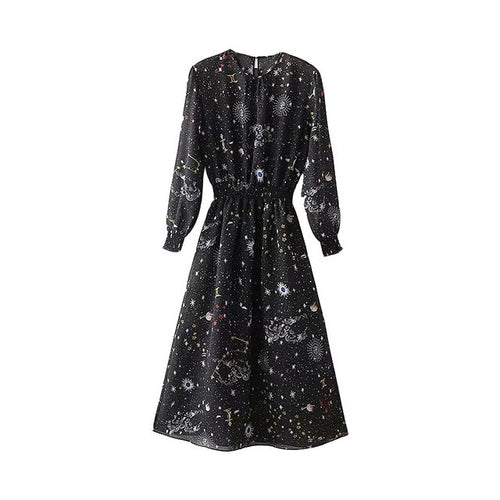 Galaxy Printed Dress