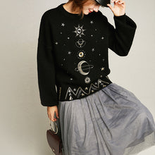 Load image into Gallery viewer, Cosmic Stars Jacquard Knit Sweater
