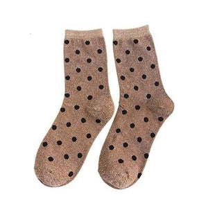 Polka Dot Socks with Glitter Shining