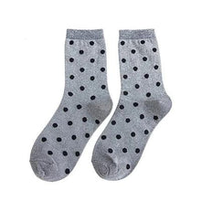 Load image into Gallery viewer, Polka Dot Socks with Glitter Shining
