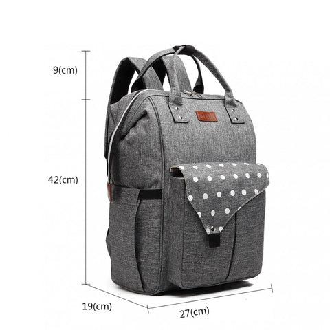 Rucsac multifunctional mamici Baby, Gri
