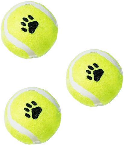 3 Pack of 2-inch Tennis Balls for Small Breed Dogs or Cats