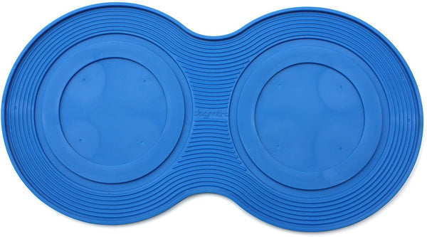 PetProjekt Large DogMat, Dog Bowl Mat Blue