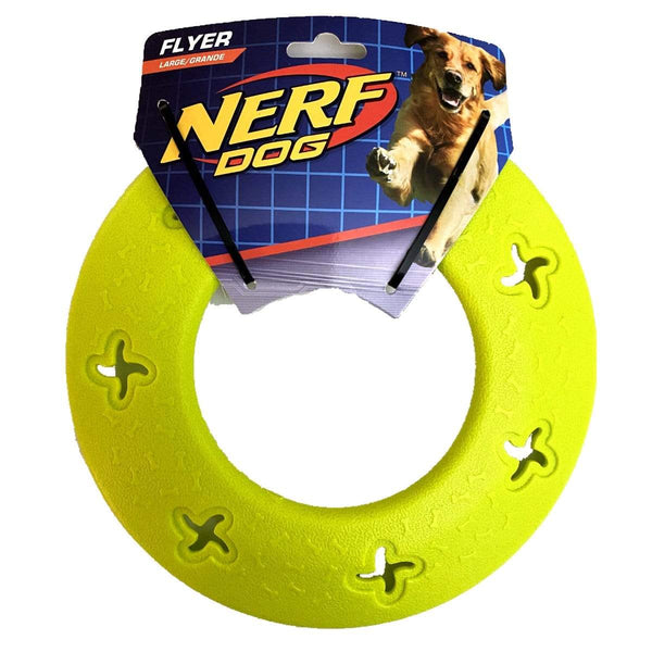 Nerf Dog Flyer Large Frisbee Lime Green