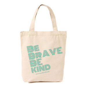 Be Brave Be Kind Canvas Tote