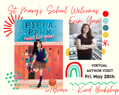 St. Mary's School 6th Graders welcome Erin Yun, author of Pippa Park Raises her Game | May 28