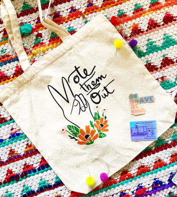 Vote Them Out Canvas Tote
