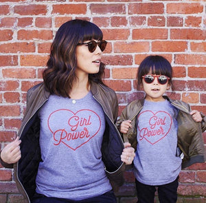 GIRL POWER - Grown up - Grey Organic Tee