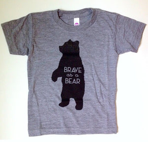 Brave as a Bear Tee (shirt) Youth