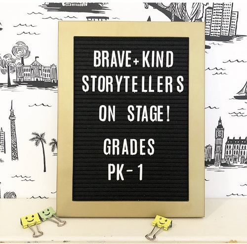 NEW! Grades Pre K - 1st: Brave + Kind Storytellers On Stage!