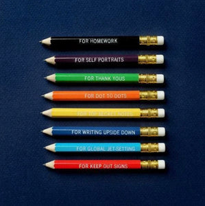 Correspondence Pencils - for all occasions - set of 8 - [Mr. Boddington's Studio]