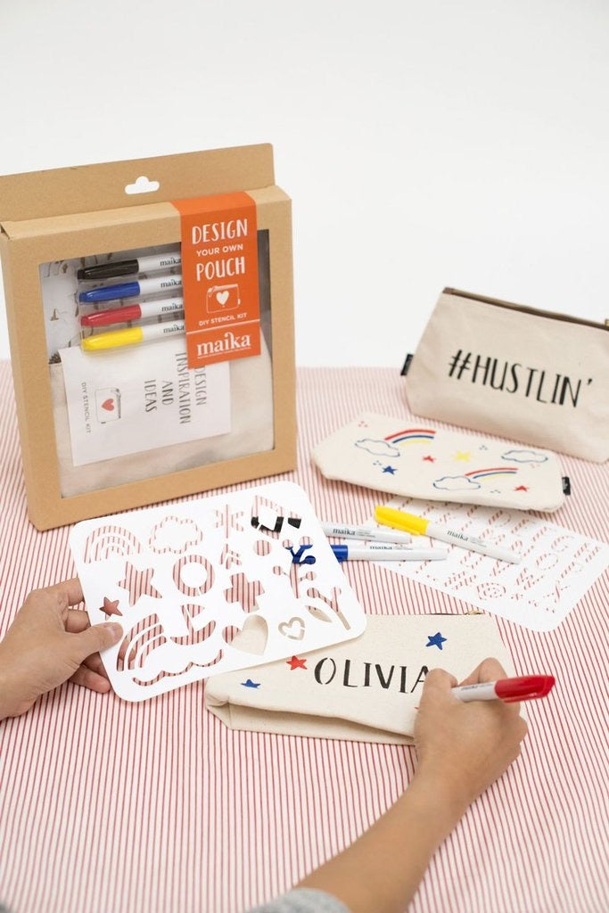 MAIKA - DESIGN YOUR OWN POUCH DIY STENCIL KIT