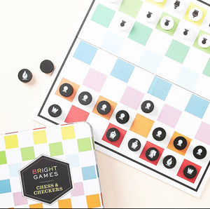 Bright Games Chess & Checkers: (board Game Set, Family Game Night Games, Classic Board Games)