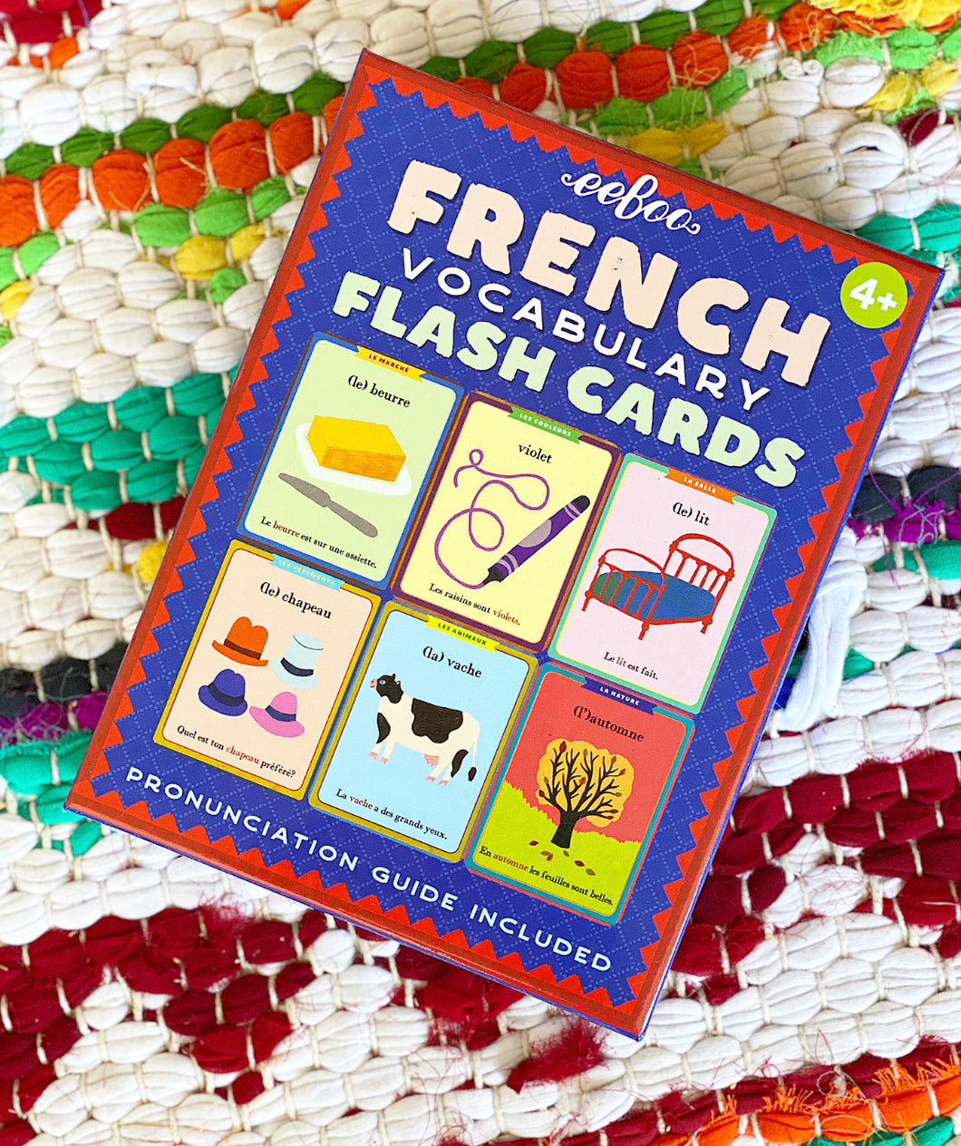 French Vocabulary Cards | Eeboo
