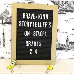 NEW! Grades 2 - 4: Brave + Kind Storytellers On Stage! James and the Giant Peach by Roald Dahl