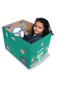 Pretend Play for Kids Cardboard Box Reusable Stickers, Car