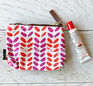 Coin Purse + Rosebud Lip Balm