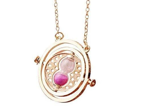 Harry Potter Timeturner Necklace Pink