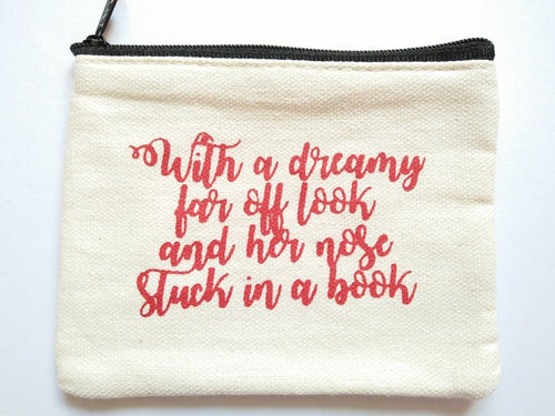 Beauty and the Beast Dreamy Quote Coin Purse