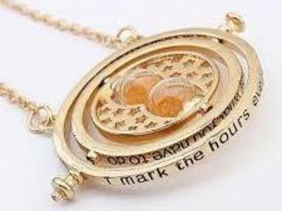 Harry Potter Timeturner Necklace Orange