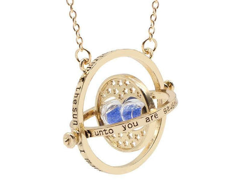 Harry Potter Timeturner Necklace Blue