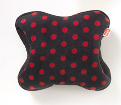 Red spots on Black - Polar Fleece