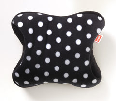 White Spots on Black - Polar Fleece