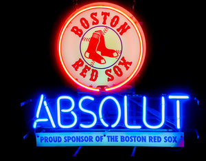 Boston Red Sox Absolut neon sign