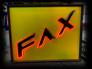 1980s Animated Neon Fax Sign
