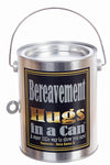 Hugs in a Can Bereavement Hugs teddy gram.