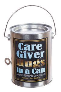 Hugs in a Can Care Giver Hugs, Best gift hug, best bear hug, unique hug gift, teddybear paint can, teddybear hug, hug can