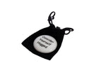 Hugs in a Can White Stone in Black Velvet Pouch Consider Yourself Hugged Hug Hugs in a Can