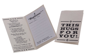 Be happy teddy bear Hugs in a Can Message Card, Hug-Gram Card Hug For You Hugs in a Can.