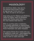 Thinking of you Hugs in a Can, Hugology Hug Poem Hug someone
