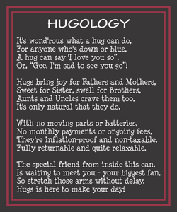 Happy Birthday Teddy Bear Hugs in a Can Hugology poem message, The best way to send a birthday gift is to send a hug.