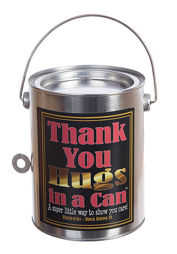 Hugs in a Can Thank You Hugs in a Can Hug best gift, best bear hug, paint can teddybear hug