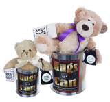 Hugs in a Can Big Hugs and Little Hug Can Teddybear hug gift