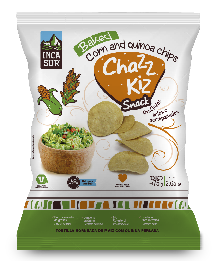 Chazz Kiz Natural Snack (Corn and quinoa chips) x 75gr