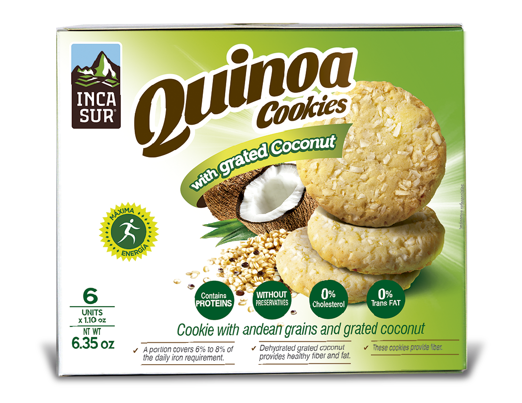 Cookies ´Incasur' Quinoa with Coconut x 30gr X 6 unit