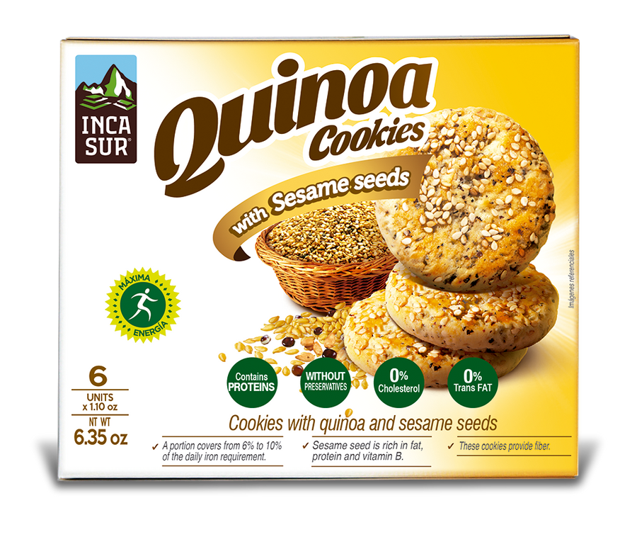 Cookies ´Incasur' Quinoa with Sesame x 30gr X 6 unit