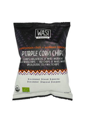 Wasi Organics Purple Corn Chips - Peruvian Chilli & Andean Spices