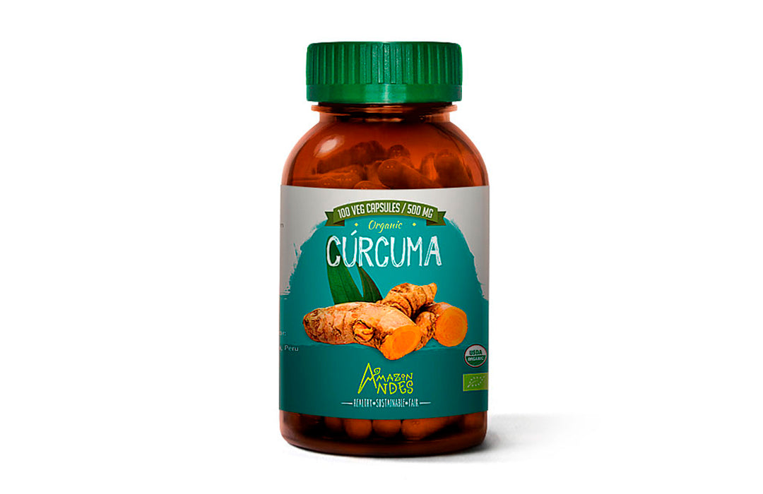 Turmeric capsules (100 x 500 mg) organic USDA and EU