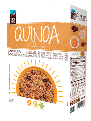 Quinoa Granola (12 natural ingredients: quinoa, amaranth, honey, pineapple, carrot, et) x 250gr
