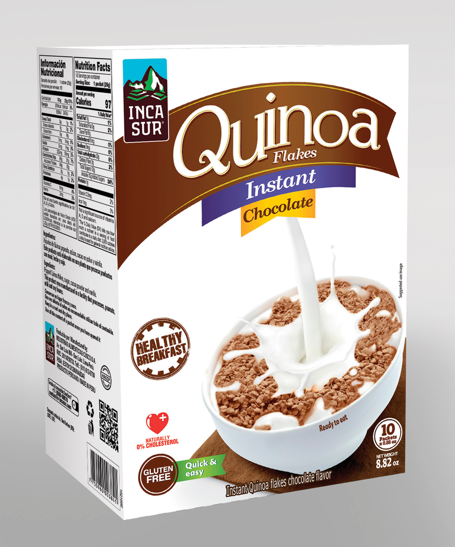 Inst quinoa Flakes Incasur Chocolate X 250g x Display