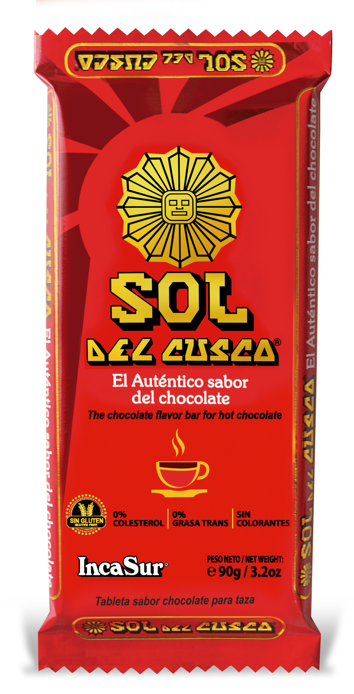 "Hot Chocolate Flavour Bar ""Sol del Cusco (SDC) Traditional"" x 90gr"