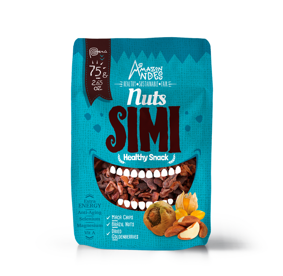 Nuts Simi Snack 75 g (Maca chips, brazil nuts and dried goldenberries )