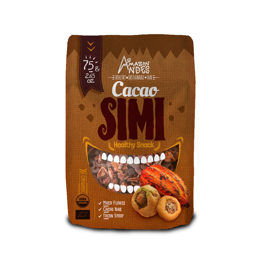Cacao Simi Snack 75 g (Maca chips, cacao nibs with yacon syrup)